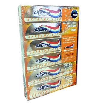 Aquafresh Extreme Clean Fluoride Toothpaste 6 Pack 7.0oz. Tubes