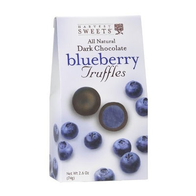 Harvest Sweets Dark Chocolate Truffles, Blueberry, 2.6-Ounce (Pack of 6)