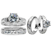 Emitations Zora's Round Cut CZ Wedding Ring Set
