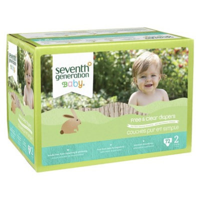 Seventh Generation Free and Clear Baby Diapers - 72 Count (Size 2)