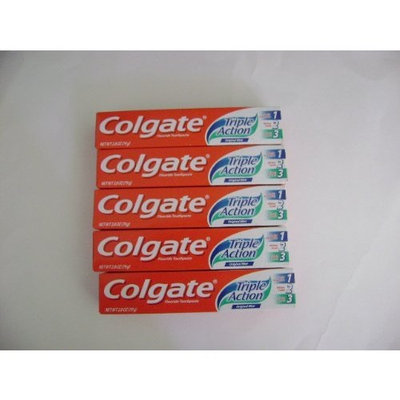 5 Travel Size Colgate Triple Action 2.8 0z. Each