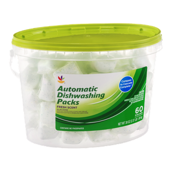 Ahold Automatic Dishwashing Packs Fresh Scent - 60 CT