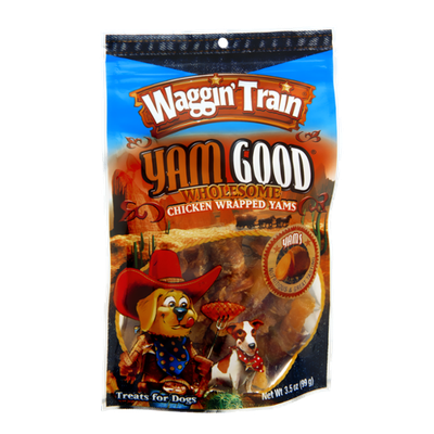 Waggin' Train Yam Good Chicken Wrapped Yams Treats for Dogs