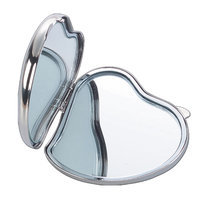 Tico Originals Natico Originals 60-712S Compact Heart Shape Mirror, Silver