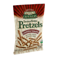 Mary's Gone Crackers Sticks & Twigs Pretzels Chipotle Tomato