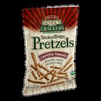 Mary's Gone Crackers Sticks & Twigs Pretzels Chipotle Tomato