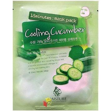 Naisture 15 Min. Collagen Essence Facial Mask Sheet Pack - Cooling Cucumber 10pk (e 23ml)