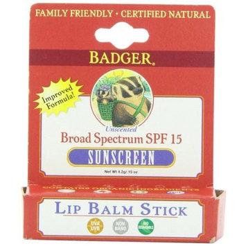 Badger SPF 15 Lip Balm Stick