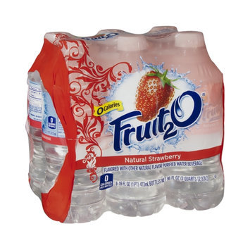 Fruit2O Flavored Water Beverage Natural Strawberry - 6 CT
