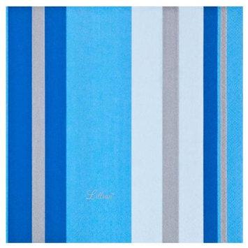 King Zak Ind Lillian Tablesettings 22325 Blue Stripe Lunch Napkin - 960 Per Case