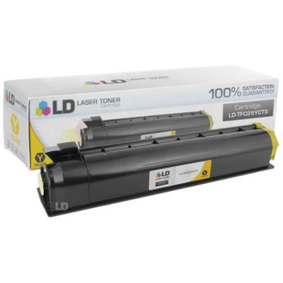 LD Compatible Replacement for Toshiba T-FC25-Y Yellow Laser Toner Cartridge for use in Toshiba e-Studio 2040C, 2540C, 3040C, 3540C, and 4540C Printers