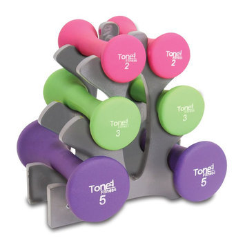 Cap Barbell SDNHS-TN020 Tone Fitness 20 lb in. Hourglass Shaped in. Dumbbells