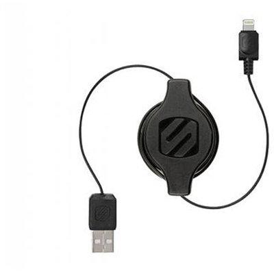 Scosche Retractable Lightning Cable, Black