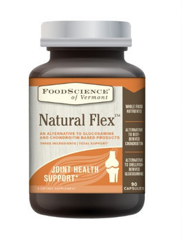 FoodScience of Vermont Natural Flex, Alternative to Glucosamine and Chondroitin Supplements, 90 Capsules