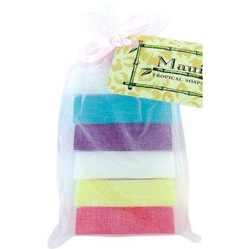 Maui Tropical Soaps Clearly Hawaii Glycerin Soap 6 Bar Gift Bag, 12-Ounce