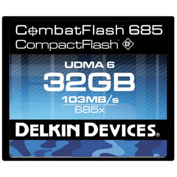 Delkin Devices DDCFCOMBAT685-32GB 32GB CombatFlash 685 UDMA 6 Compact Flash Card