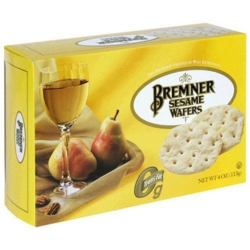Bremner Wafers, Sesame, 4-Ounce Boxes (Pack of 6)