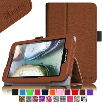 Fintie Lenovo IdeaTab A3000 7-Inch Android Tablet Folio Case - Premium Leather Cover Stand With Stylus Holder, Brown