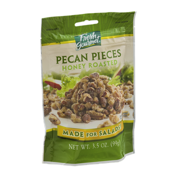 Fresh Gourmet Pecan Pieces Honey Roasted