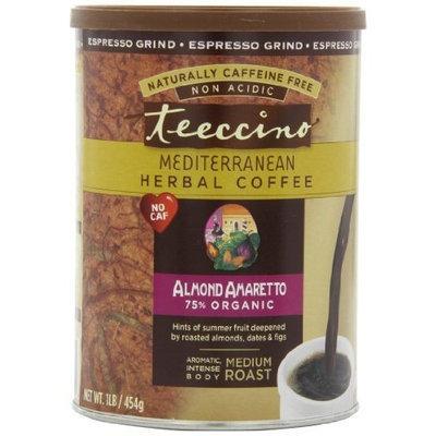 Teeccino Caffeine Free Herbal Coffee, Espresso Grind, Almond Amaretto, 16-ounce