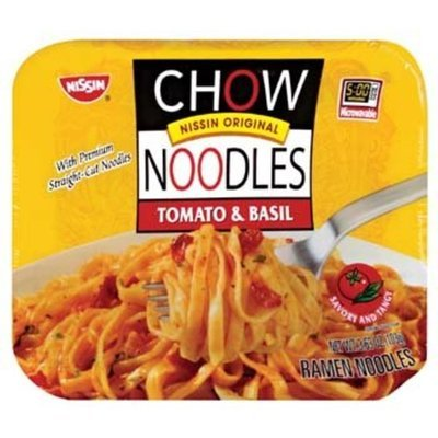 Nissin Microwavable Chow Noodles Tomato & Basil 3.63 oz