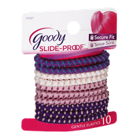 Goody Slide-Proof Secure Fit Gentle Elastics - 10 CT