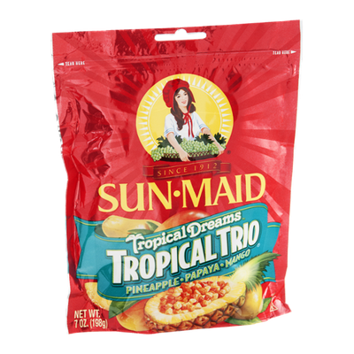Sun-Maid Fruit Tropical Dreams Tropical Trio Pineapple, Papaya & Mango