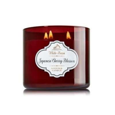 Bath & Body Works® White Barn Japanese Cherry Blossom 3-Wick Candle