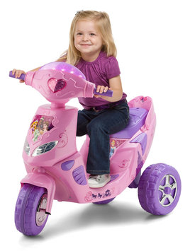 Pacific Cycle Disney Princess 6 Volt Twinkling Lights Scooter