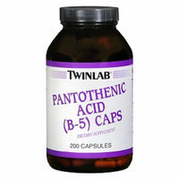 Twinlab Pantothenic Acid Caps (B-5) 500 mg Dietary Supplement Capsules
