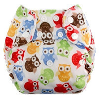 Blueberry One Size Deluxe Snaps, Owls