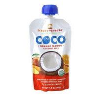 Happy Baby Happy Squeeze Organic Coco Coconut Milk, Orange Mango, 3.5 oz