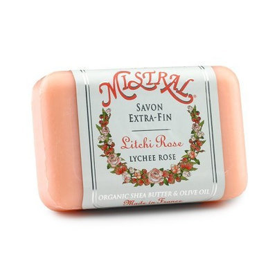 Mistral Shea Butter Soap, Lychee Rose, 7-Ounce Bar