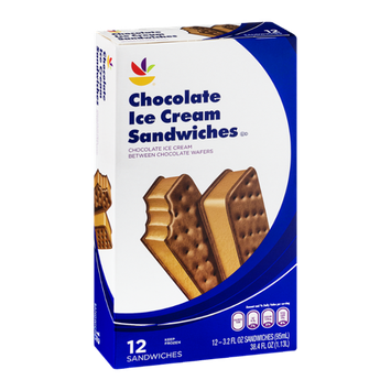 Ahold Chocolate Ice Cream Sandwiches - 12 CT