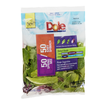 Dole Salad 50 Spring Mix/50 Baby Spinach