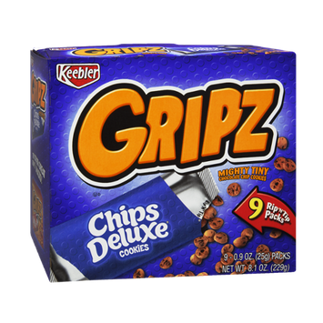 Keebler Gripz Chips Deluxe Mighty Tiny Chocolate Chip Cookies