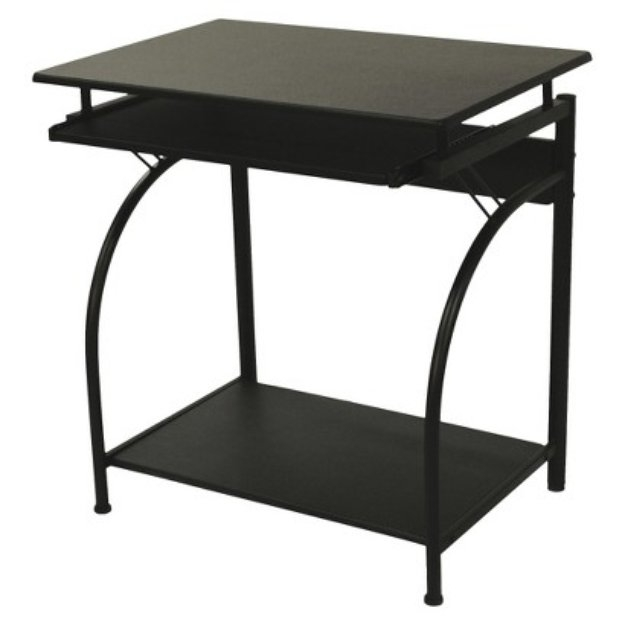Comfort Products Writing Desk: Stanton Computer Desk with Pullout Keyboard Tray - Black