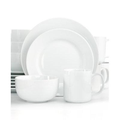 The Cellar Whiteware Rim 16-Piece Set