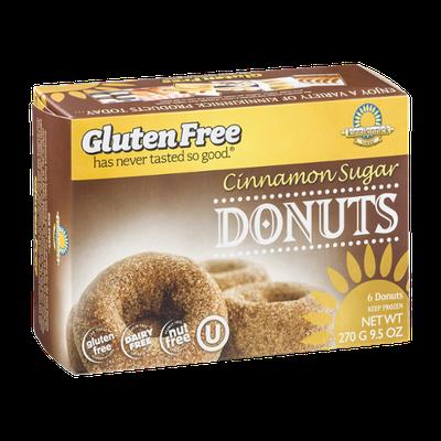 Kinnikinnick Foods Donuts Cinnamon Sugar Gluten Free - 6 CT