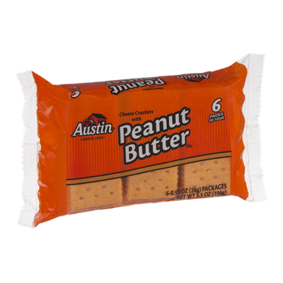 Austin Cheese Crackers with Peanut Butter - 6 CT