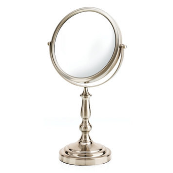 Danielle Satin Nickel Vanity Mirror with 5X Magnification