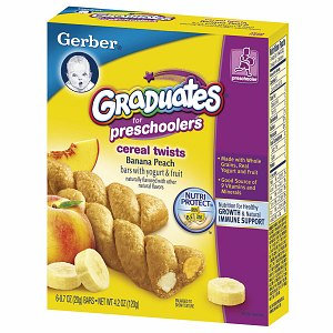 Gerber® Graduates for Pre-Schoolers Cereal Twists Fruit & Yogurt Bars