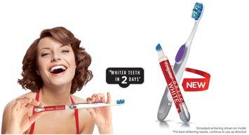 Colgate® Optic White™ Toothbrush + Built-In Whitening Pen