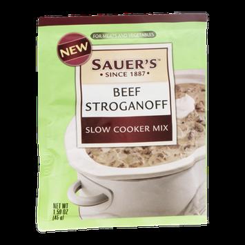 Sauer's Slow Cooker Mix Beef Stroganoff