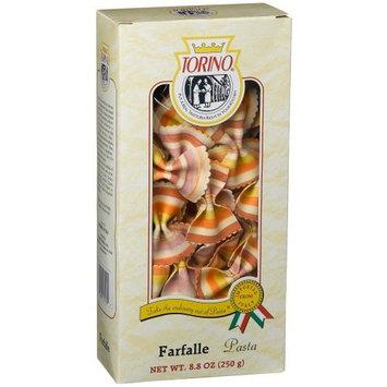Torino Designer Pasta, Rainbow Farfalle, 8.8-Ounces Boxes (Pack of 4)