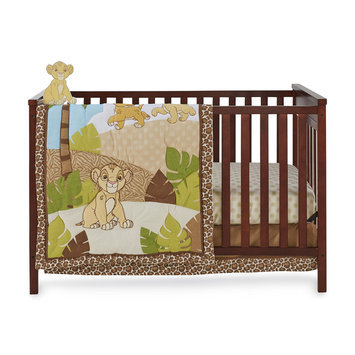 Crown Crafts Infant Products, Inc. Disney Baby The Lion King 4-Piece Crib Bedding Set - Simba