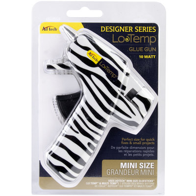 Ad-tech Designer Mini Glue Gun-Low Temp Zebra