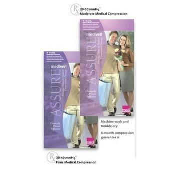 Mediven Assure, Closed Toe, 30-40mmHg, Calf High Compression Stocking, Medium, Beige