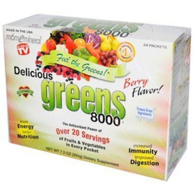 Greens World Delicious Greens 8000 Berry Flavor