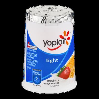 Yoplait® Light Fat Free Yogurt Strawberry Orange Sunrise